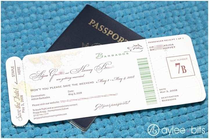 Diy Boarding Pass Wedding Invitations Diy Boarding Pass Invitation Save The