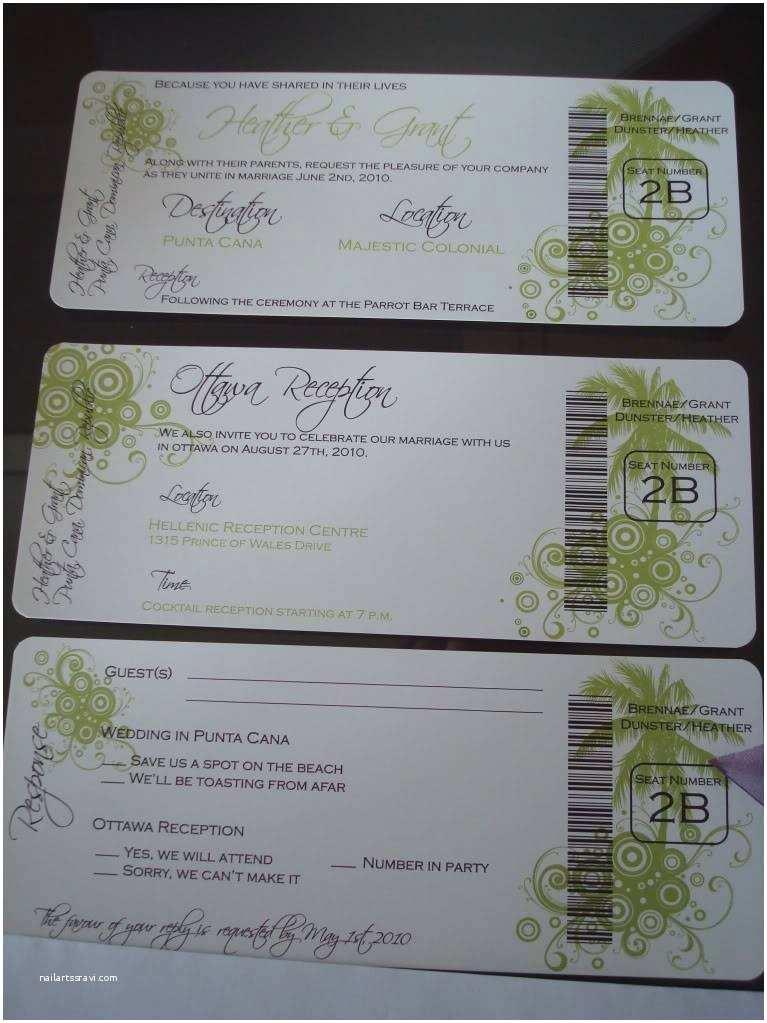 Diy Boarding Pass Wedding Invitations My Diy Boarding Pass Invites Finally Diy