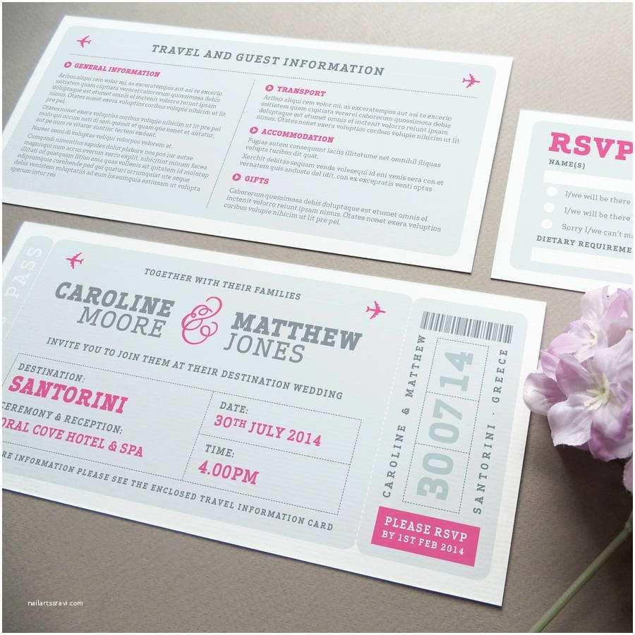 Diy Boarding Pass Wedding Invitations Wonderful Boarding Pass Wedding Invitations