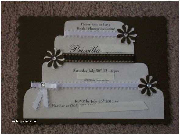 Diy Bridal Shower Invitations Best Wedding Shower Invitations Homemade Ideas