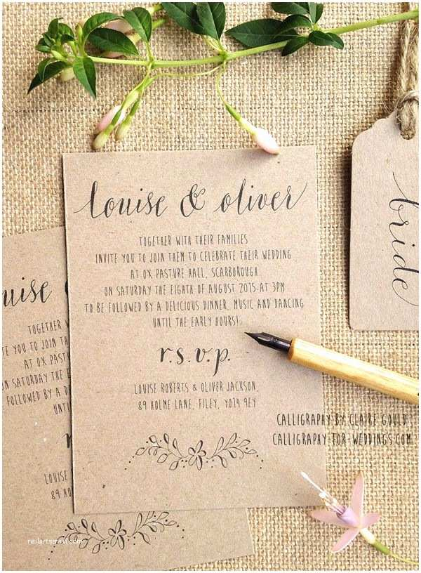 Diy Calligraphy Wedding Invitations Best 25 Handwritten Wedding Invitations Ideas On