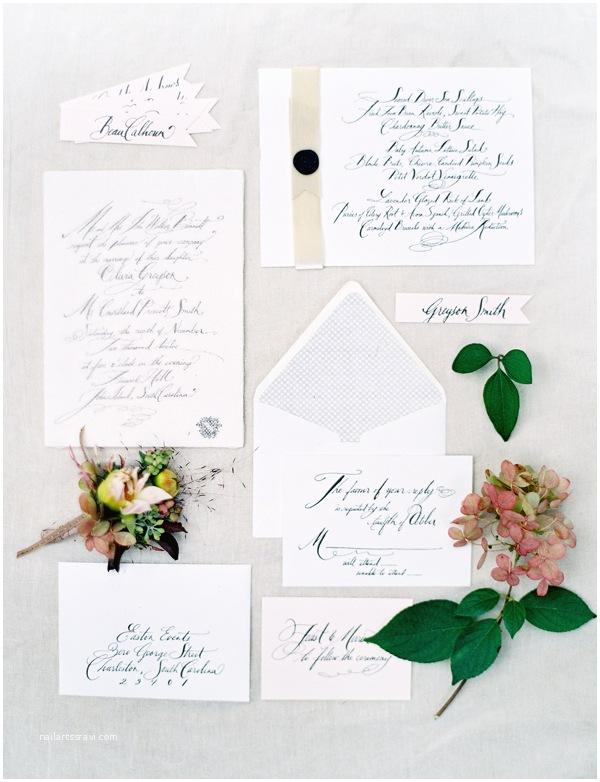 Diy Calligraphy Wedding Invitations Cheese Cloth Calligraphy Wedding Invitations Ce Wed