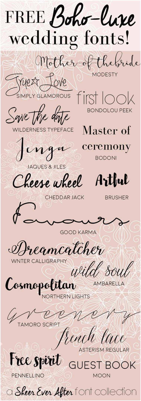 free calligraphy fonts to make pretty wedding stationery diy