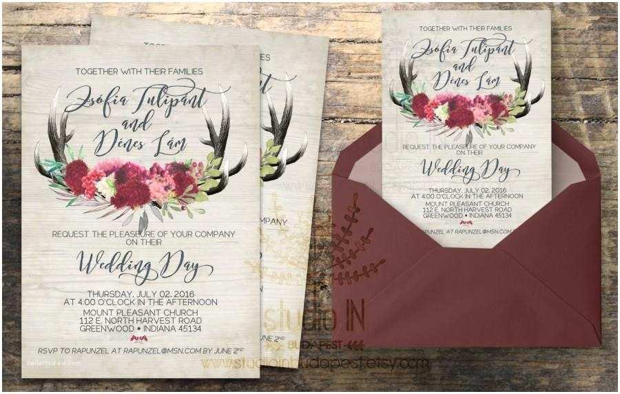 Diy Calligraphy Wedding Invitations Rustic Wedding Invitation Rustic Wedding Invite