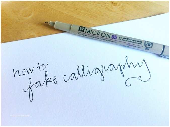 Diy Calligraphy Wedding Invitations Wedding Diy How to Fake Calligraphy Shop Nyc Daily