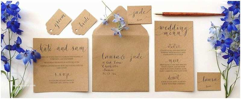 Diy Calligraphy Wedding Invitations when to order Wedding Stationery Diy Off the Shelf or
