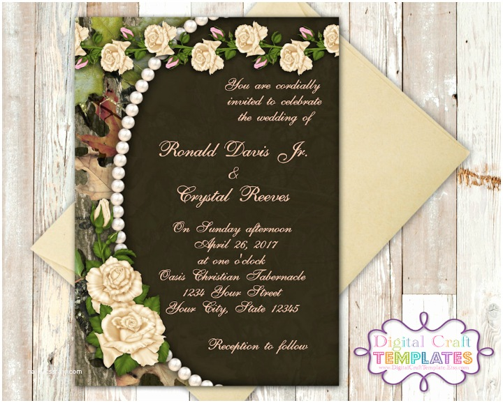Diy Camo Wedding Invitations 14 Camo Wedding Invitation Designs & Templates Psd Ai