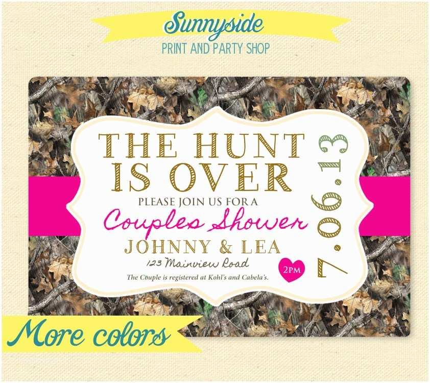 Diy Camo Wedding Invitations Camo Shower Invitations and Save the Dates