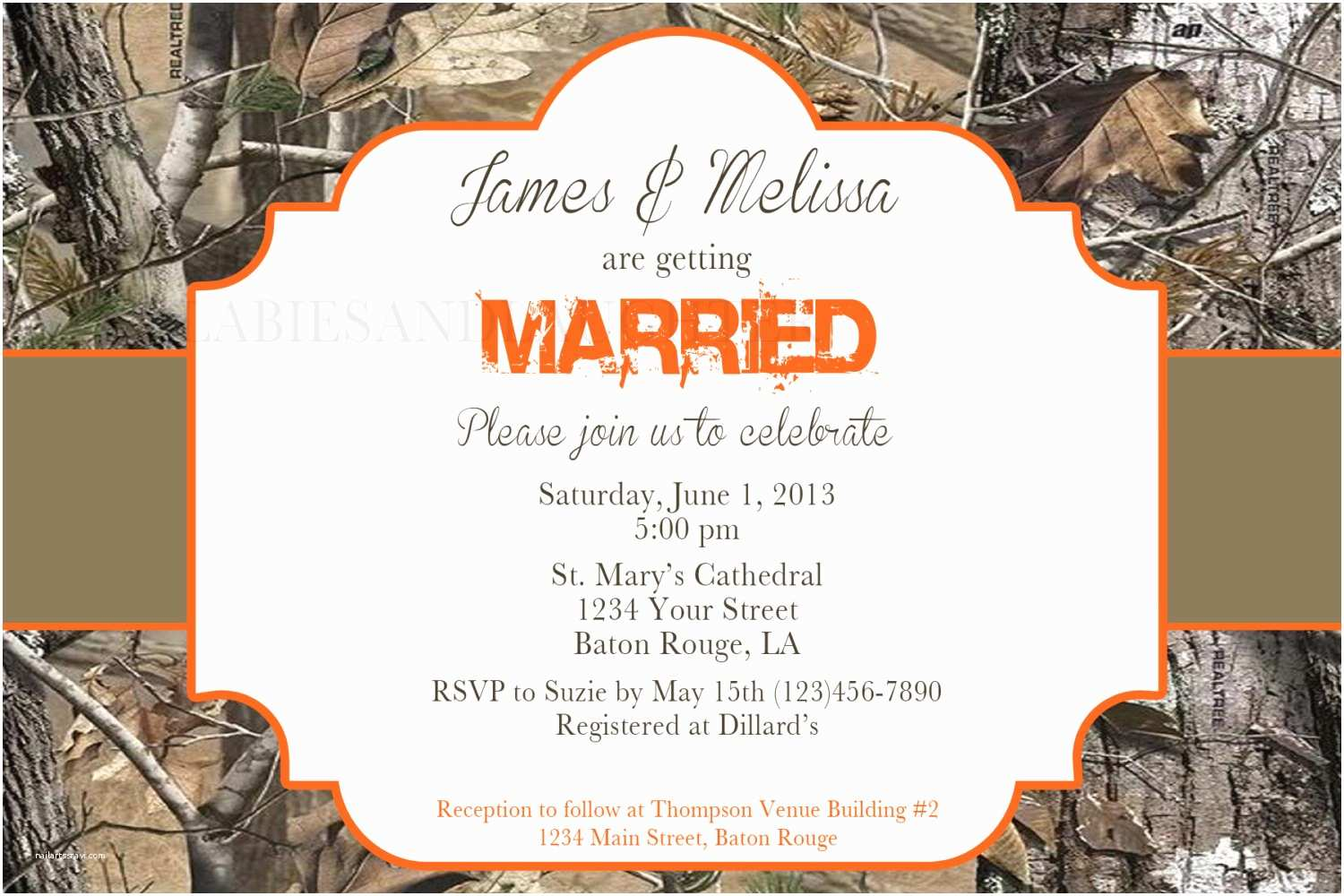Diy Camo Wedding Invitations Imposing Camouflage Wedding Invitations