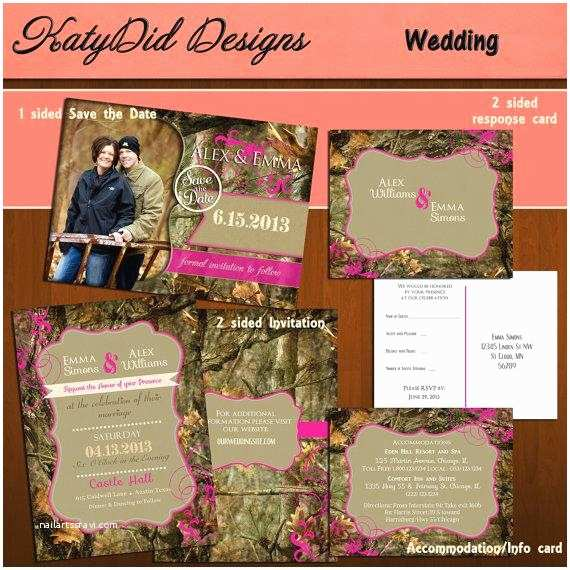 Diy Camo Wedding Invitations Instant Download Mossy Oak Inspired Camo Camouflage 5x7