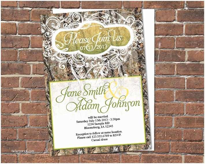 Diy Camo Wedding Invitations Print Your Own Camouflage Wedding Invitations