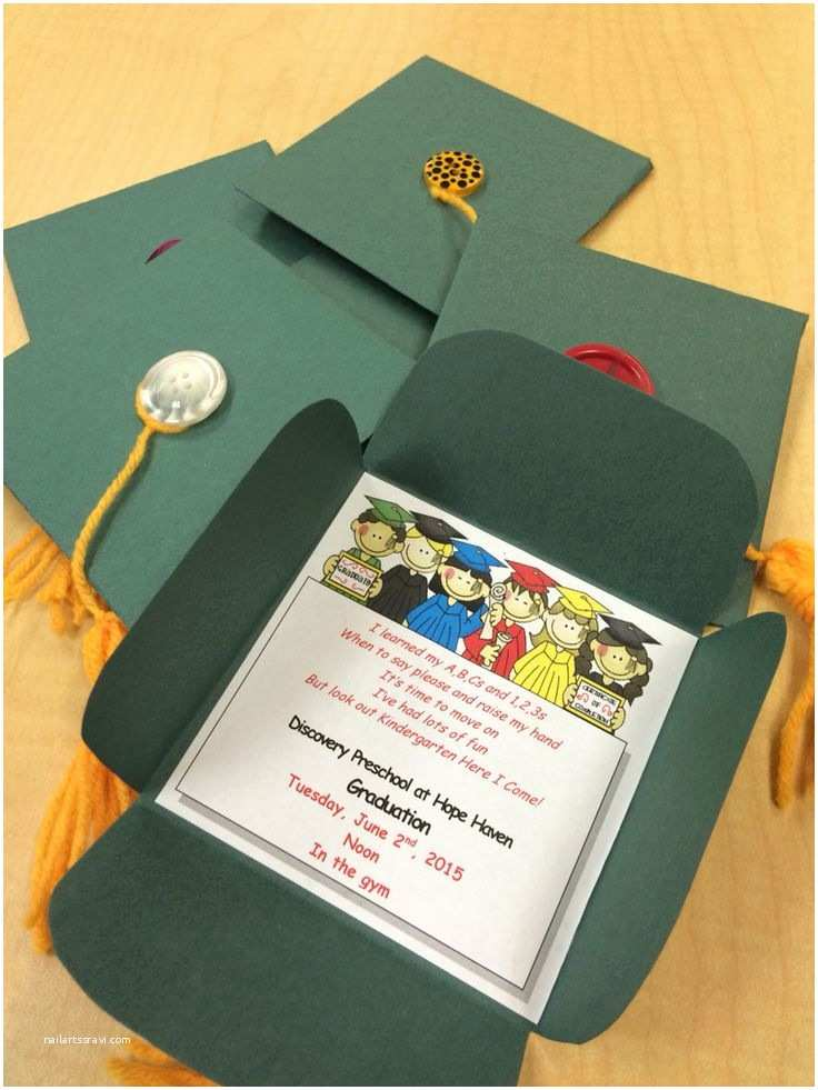 Diy Graduation Invitations 25 Best Ideas About Preschool Graduation On Pinterest