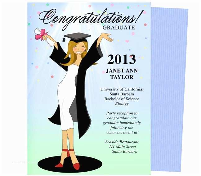 Diy Graduation Invitations Cheer for the Graduate Graduation Party Announcement
