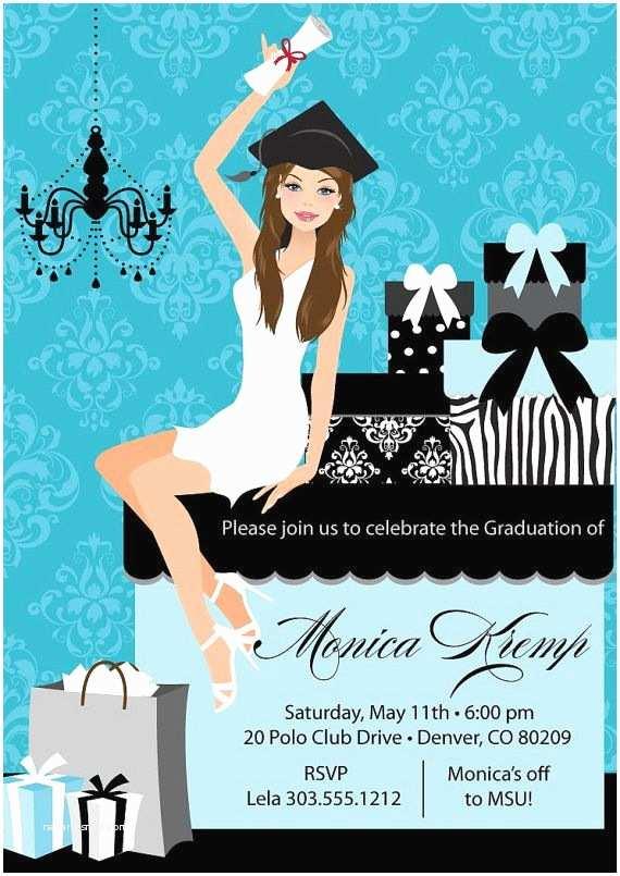Diy Graduation Invitations College Graduation Party Invitation Diy High School Grad