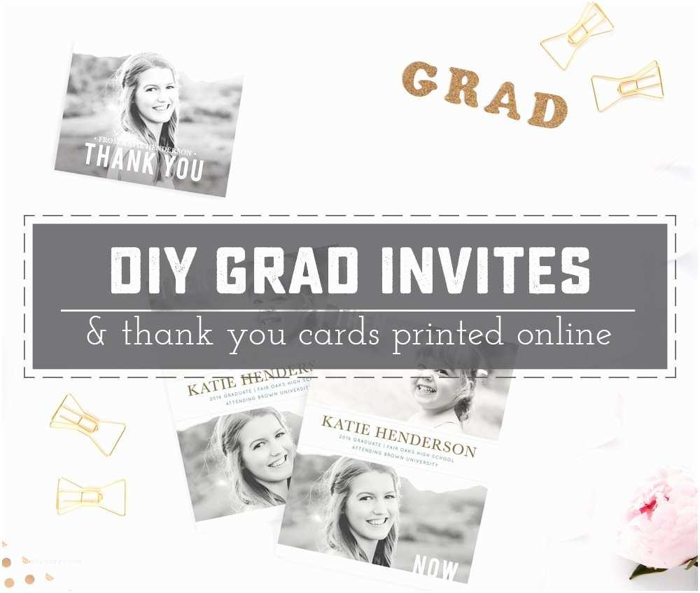 Diy Graduation Invitations Diy Graduation Invitations and Thank You Cards Line