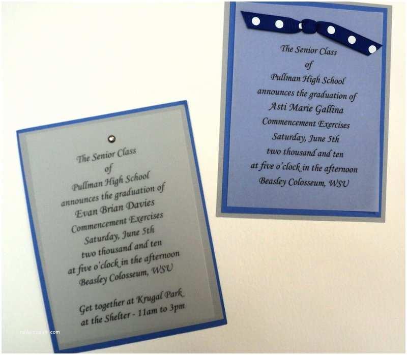 Diy Graduation Invitations Diy High School Graduation Announcements