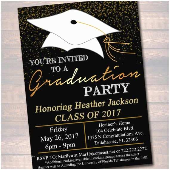 Diy Graduation Invitations Editable Graduation Party Invitation High School