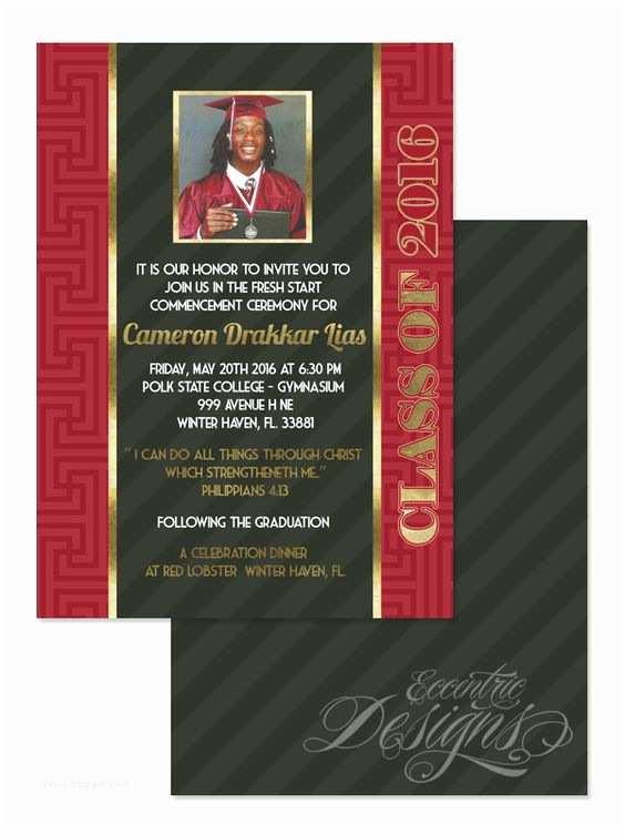 Diy Graduation Invitations Faux Gold Foil Graduation Invitation Digital