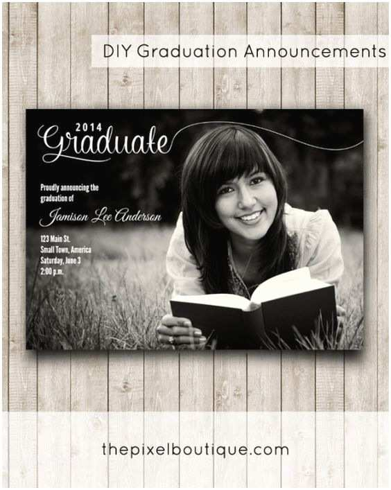 Diy Graduation Invitations Pinterest • the World's Catalog Of Ideas