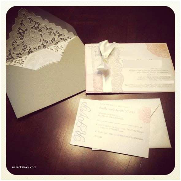 Diy Lace Wedding Invitations Diy Lace Invitations