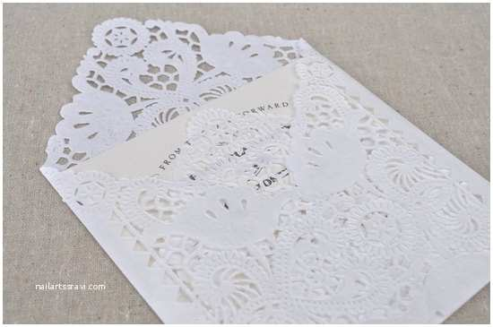 Diy Lace Wedding Invitations Diy Lace Wedding Invitation Envelopes