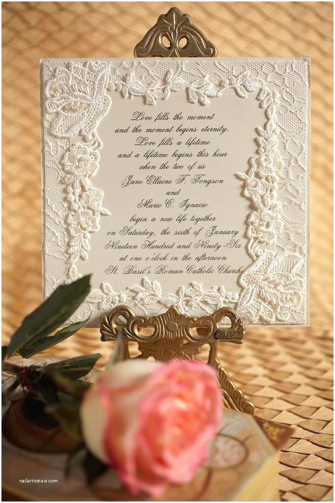 Diy Lace Wedding Invitations Diy Lace Wedding Invitation with Pearls Join Us In A