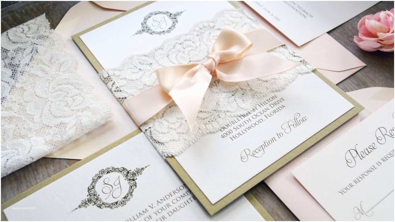 Diy Lace Wedding Invitations Diy Wedding Invitations Using Lace Belly Bands
