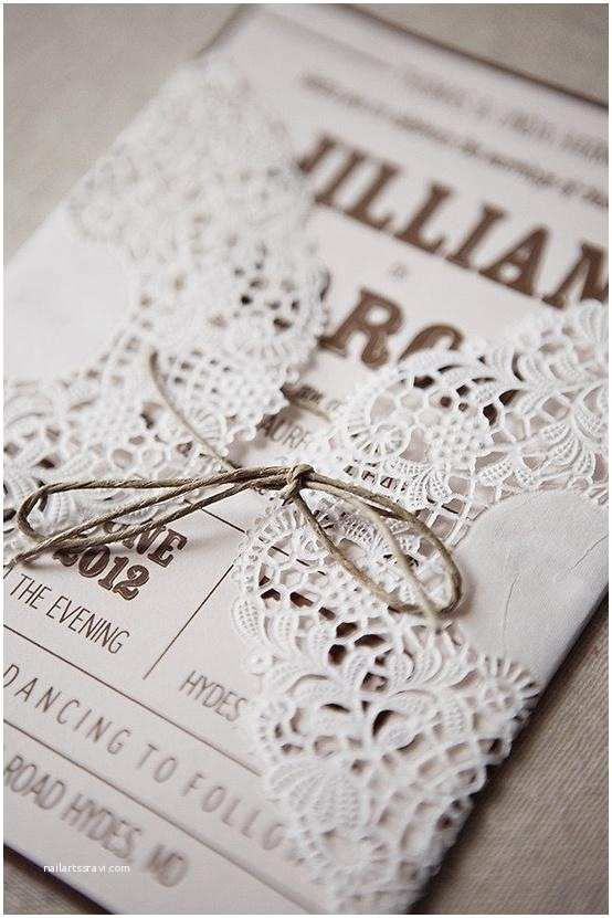 Diy Lace Wedding Invitations Rustic Wedding Handmade Diy Lace Wedding Invitation