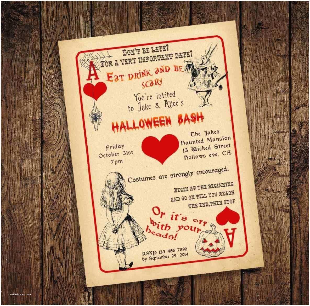 Diy Party Invitations Diy Alice In Wonderland Birthday Invitations – Mayamoka M