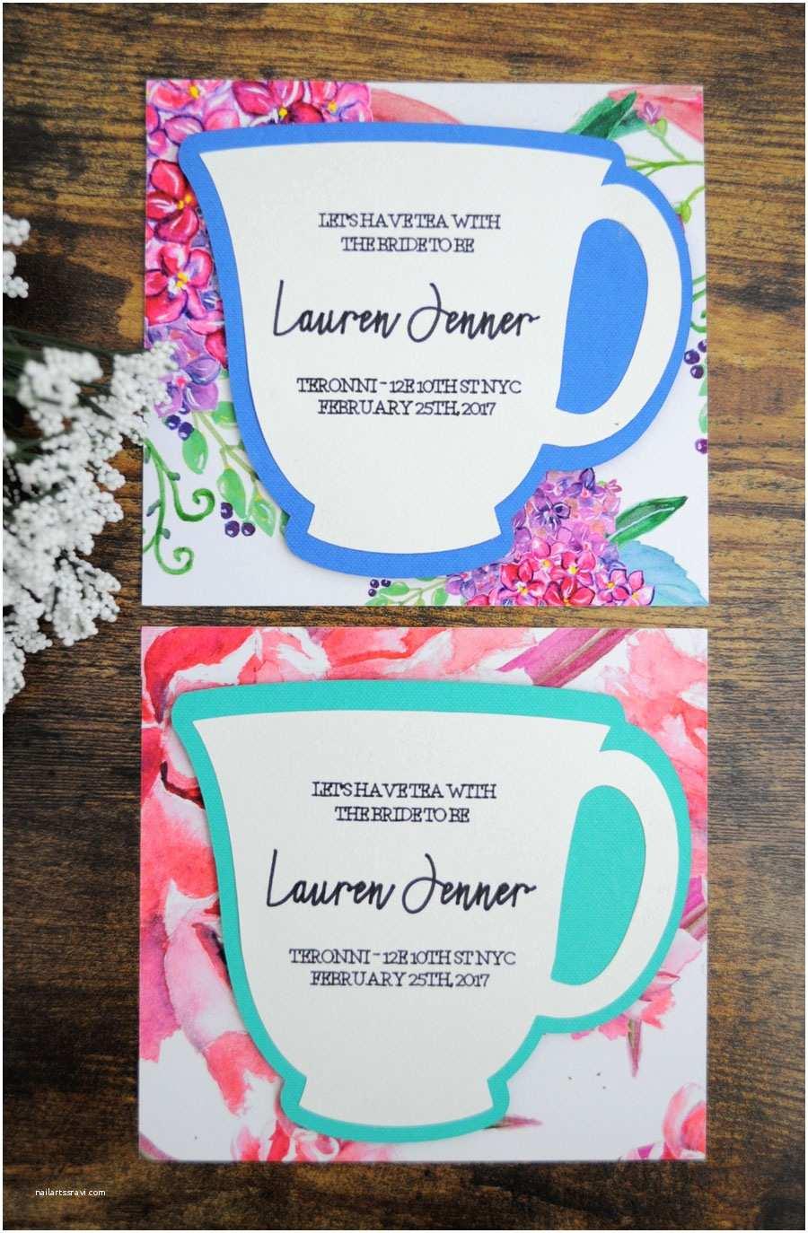 Diy Party Invitations Diy Bridal Shower Tea Party Invitations