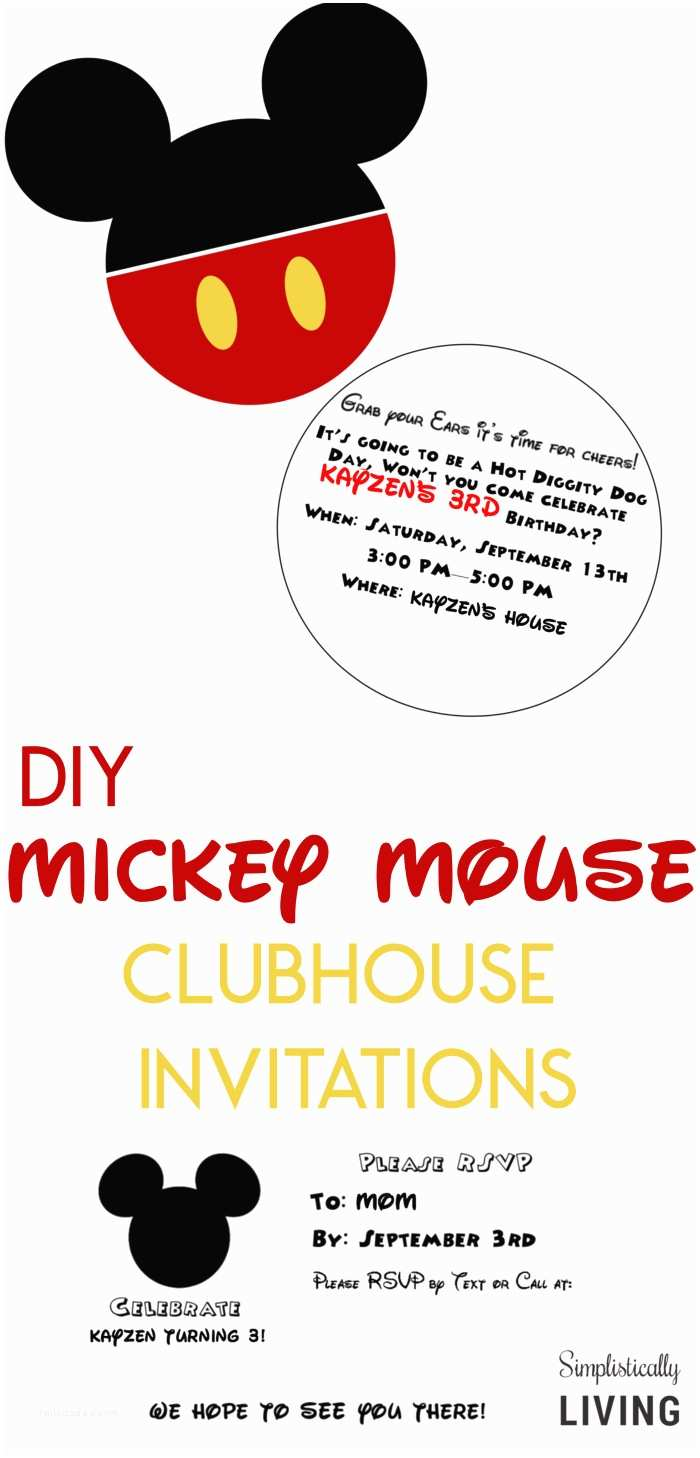 Diy Party Invitations Diy Mickey Mouse Clubhouse Party Invitations