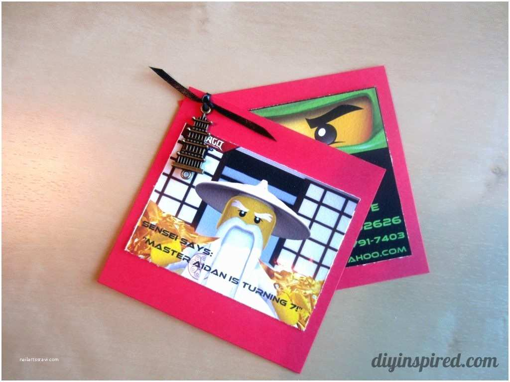 Diy Party Invitations Diy Ninjago Birthday Invitations Diy Inspired