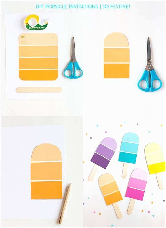 Diy Party Invitations Diy Popsicle Party Invitations so Festive