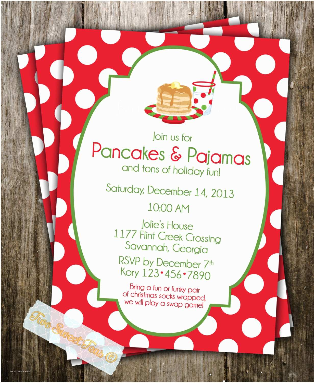 Diy Party Invitations Homemade Christmas Party Invitations Diy Christmas
