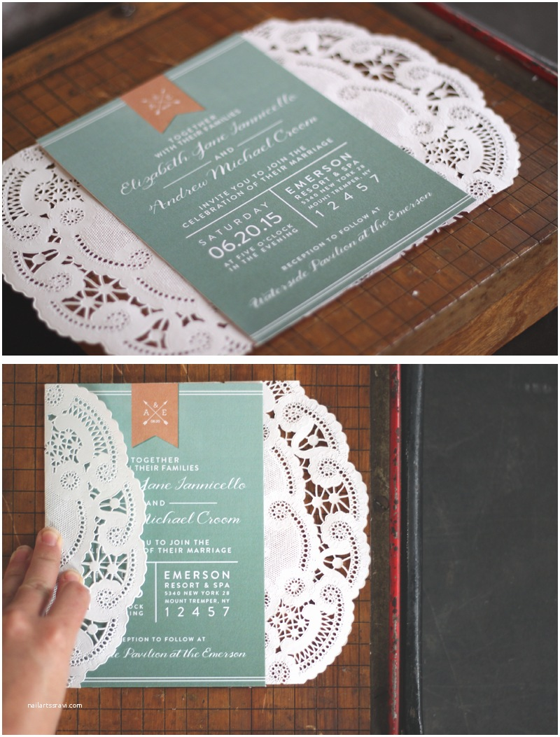 Diy Party Invitations Oh What Love Diy A Lace Doily Wedding Invitation Sleeve