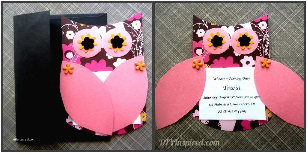 Diy Party Invitations Owl themed Invitations Diy Inspired