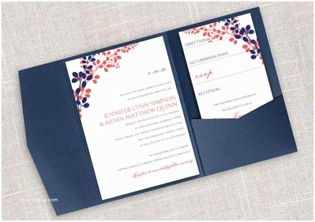 Diy Pocket Wedding Invitations Diy Pocket Wedding Invitation Template Set Instant