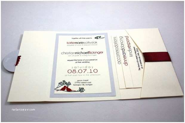 Diy Pocket Wedding Invitations Diy Wedding
