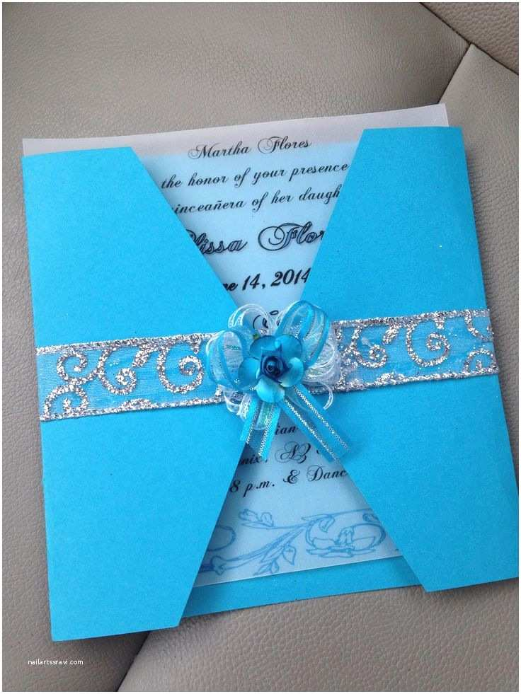 Diy Quinceanera Invitations Quinceanera Invitations Made by Me