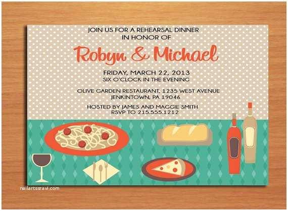 Diy Rehearsal Dinner Invitations Italian Table Wedding Rehearsal Dinner Party Invitation