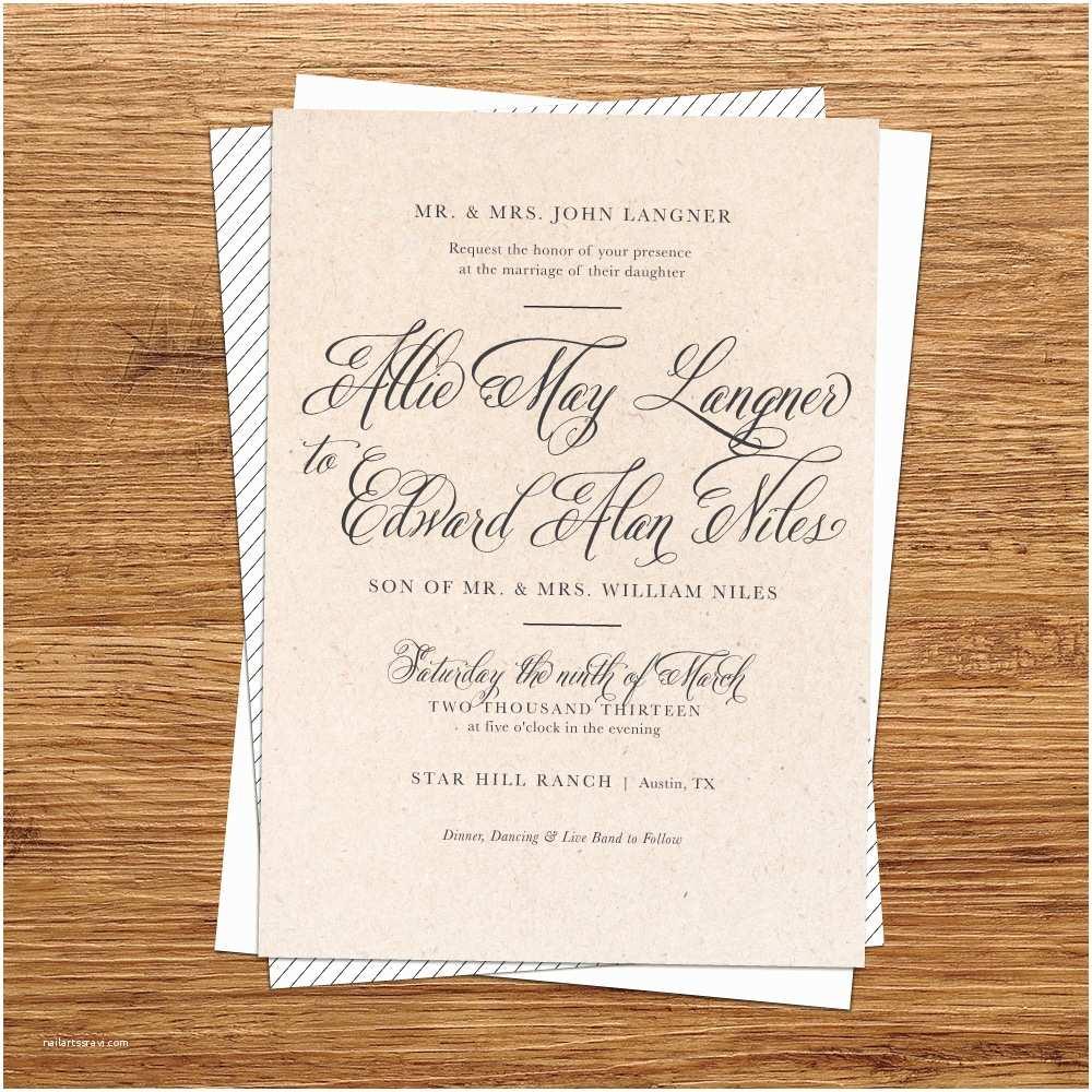 Diy Rustic Wedding Invitations Diy Rustic Wedding Invitations Template