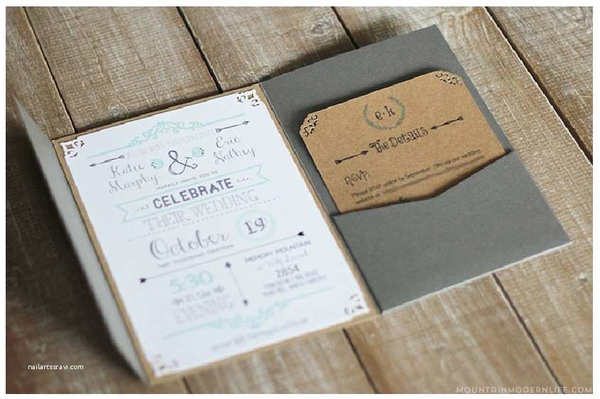 Diy Rustic Wedding Invitations Free Wedding Invitation Template