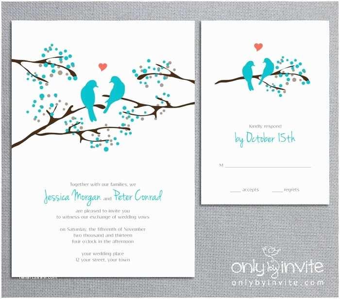 Diy Tree Wedding Invitations Love Birds Tree Whimsical Spring Printable Wedding