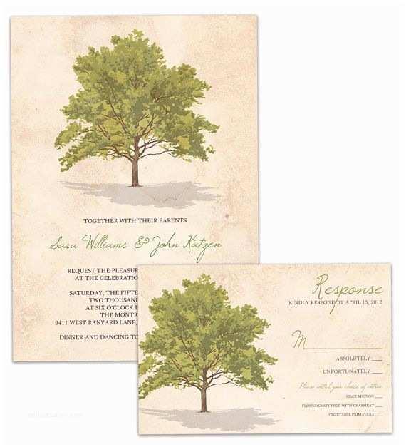Diy Tree Wedding Invitations Tree Rustic Wedding Invitation and Rsvp Suite Vintage