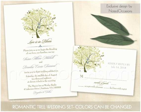 Diy Tree Wedding Invitations Tree Wedding Invitation Rustic Oak Tree Wedding by