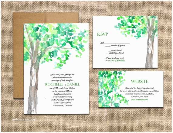diy watercolor tree a printable wedding