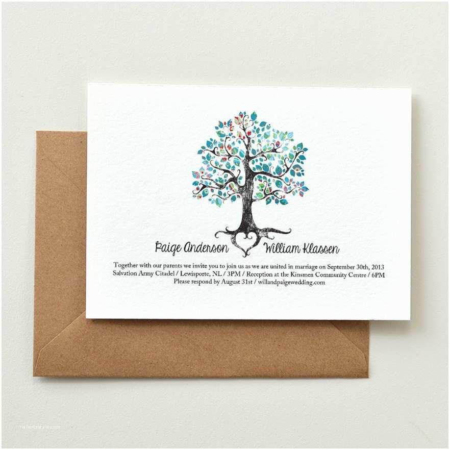 Diy Tree Wedding Invitations Wedding Invitation Rustic Woodland Tree Diy Printable Pdf