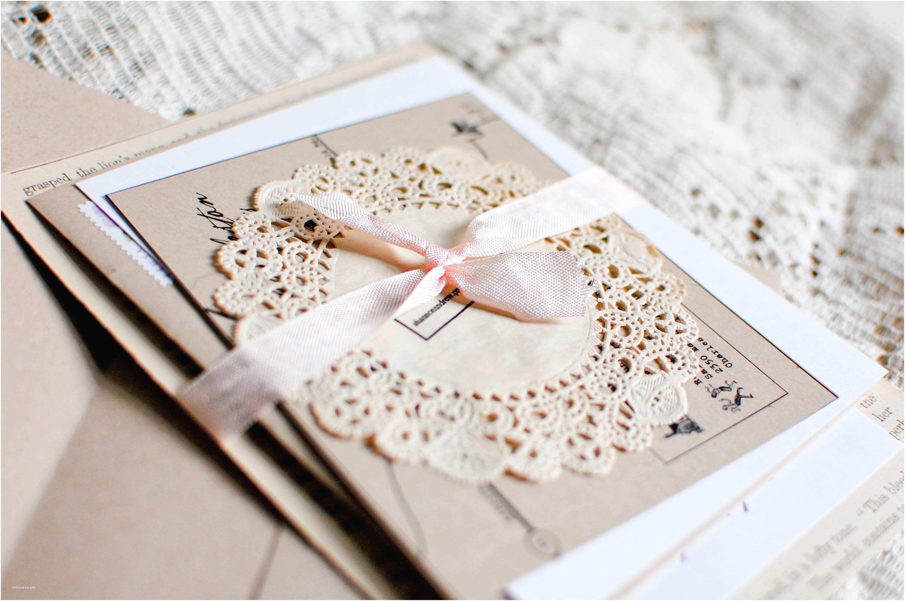 Diy Vintage Wedding Invitation Ideas Birthday Christening Joint Invitations Invitation Librarry