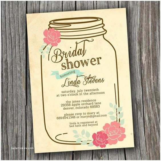 Diy Vintage Wedding Invitation Ideas Bridal Shower Invitation Printable Custom Diy Wedding