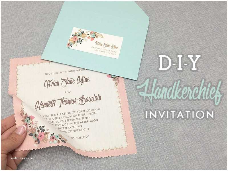 Diy Vintage Wedding Invitation Ideas Diy Vintage Hanky Wedding Invitation with Free Template